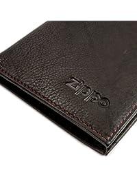 Zippo Personalised Genuine Leather Bi-Fold Men s Wallet   Money Clip -  Mocca Brown 07161533f17