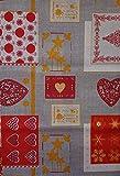 M&O Weihnachts-Tischdecke für Weihnachten, Nicht bügeln, 100% Polyester, 3 Meter, 140 x 300 cm, Bedruckt