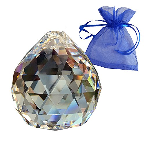 fffb82fc8b5fce Crystal Ball Diameter 50 mm in a Small Blue Gift Bag - 30% Lead Crystal