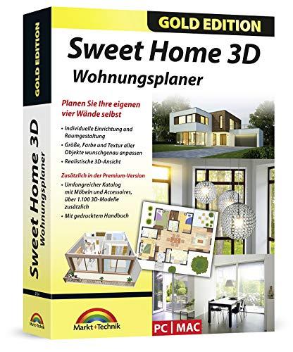 Sweet Home 3D Wohnungsplaner - mit zusätzlichen 1.100 3D Modelle und gedrucktem Handbuch, ideal für die Architektur, Haus und Wohnplaner - für Windows 10-8-7-Vista-XP & MAC