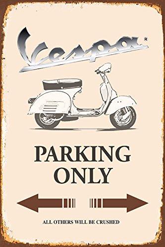 Vespa Parking only park schild tin sign schild aus blech garage