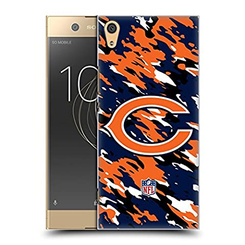 Official NFL Camou Chicago Bears Logo Hard Back Case for Sony Xperia XA1 Ultra / Dual