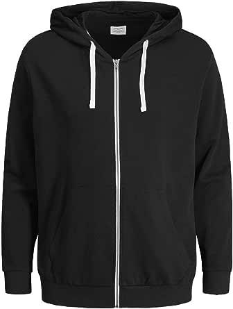 JACK & JONES Men's Jjeholmen Sweat Zip Hood Noos Jacket