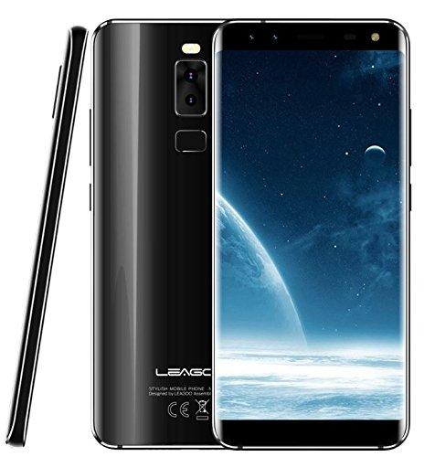 LEAGOO S8 - 5,72 Zoll (18: 9-Verhältnis) randlos Android 4G Ultra Slim Smartphone, Quad-Kameras, Octa Core 1,5 GHz 3 GB RAM 32 GB - Blau Smartphone Entsperrt Sim-karte