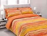 Gipetex Coordinato Letto Beige/Rosso 150 x 300 + 50 x 80/1 cm