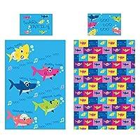 KidCollection Shark Family Single/Junior Duvet Cover Reversible Bedding Set (Junior Duvet Cover)