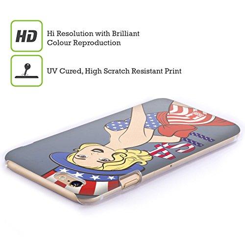 Head Case Designs Elizabeth Pin Up Américaine Étui Coque D'Arrière Rigide Pour Apple iPhone 5 / 5s / SE Sarah