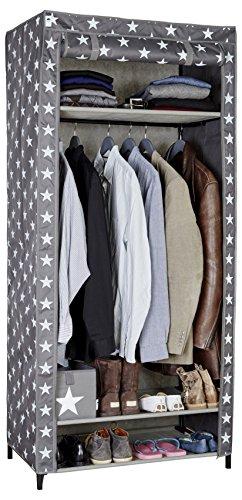 STORE.IT Textiler Camping Stoff-Falt-Kleiderschrank, Polyester, Grau, XXL, 50 x 80 x 175 cm, 5-Einheiten