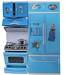 Buy Atoz Frozen Kitchen Set Cooking Toy Set For Girls With Big Refrigerator Dishwasher Modular Kitchen Toy With Plastic Bottles Milk Box 918 22f Online At Low Prices In India Amazon In