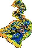 Prettystern P896 - 160cm Belle sciarpa Stampe d'arte Art Nouveau Gustav Klimt Seidenschal- Fregio Stoclet (colorato) …