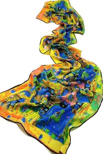 Prettystern P896 - 160cm Malerei Kunstdruck Schal Jugendstil Gustav Klimt Seidenschal-...