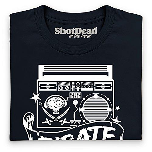Pirate Radio T-Shirt, Damen Schwarz