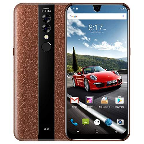 Mumuj Smartphone Android,Bobarry Mate23 2+32GViererkabel-Kern 6,2 Zoll Doppelkamera Smartphone Android 7.0 32GB Touch Screen WiFi Bluetooth GPS 3G Anruf-Handy Seniorenhandys Zubehör (Braun) Gps-ac-wand-adapter