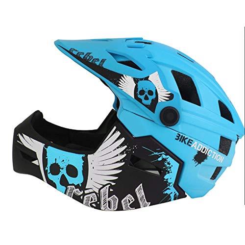 AmzGxp Kinderhelm Vollhelm Schutzhelm Fahrradhelm Reithelm Kinderschutz Gemütlich (Farbe : Blue, Size : S)