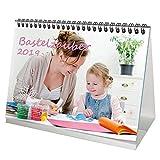 Premium Tischkalender 2019 · DIN A5 · weiß · Bastelzauber · Geschenk-Set: 1 Grußkarte 1 Weihnachtskarte · Selbstgestalten · Bastelkalender · Fotokalender · Basteln · Edition Seelenzauber