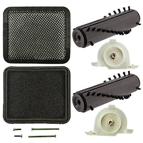 spares2go komplett Bürstenrolle Endkappen + waschbar Filter Pads Kit für Gtech AirRAM DM001AR02AR01AR03AR05schnurlose Staubsauger - Rührwerk Pinsel-roller