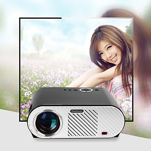 Le plus récent projecteur 3200 Lumen 1280 * 800 Lecteur multimédia Beamer Projecteur LCD LED 720P pour salle de cinéma Salle de réunion HDMI VGA USB AV
