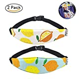 ZobiDobi Toddler Car Seat Head Support Strap Infants and Baby Car Seat Neck Relief Head Band Safety Stroller Adjustable Head Holder Sleep Belt 2 Pcs