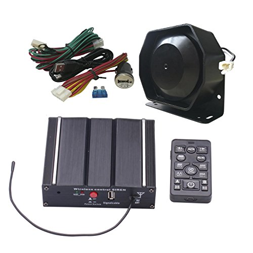 Als 100W Federal Sirene Kit as7100d-spk00213Pack 20Töne 12V mit Sirene Box Lautsprecher Wireless Fernbedienung Mikrofon für verschiedene Fahrzeuge