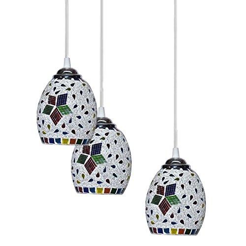 GORGIOUS Glass Ceiling Pendant Hanging Light (Multicolour)