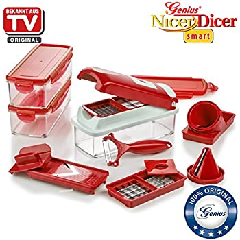 genius original nicer dicer magic cube 31 piece deluxe set successor to the nicer dicer fusion. Black Bedroom Furniture Sets. Home Design Ideas