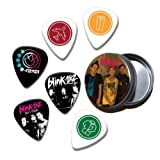 Blink 182 Set of 6 Loose Guitar Médiators in Tin ( Collection B )