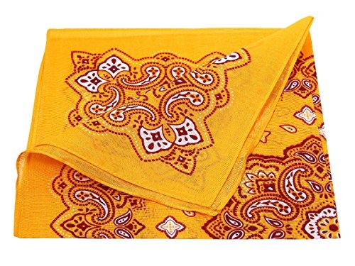 Bandana di colori e motivi diversi (BA-188) arancione multifunzione classica foulard scialle collo rocker biker motociclista motorcycle pirata accessorio hip hop cappellino cowboy bracciale