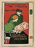 Vintage Stationery und Druck Wilhelm Hoffman von Dresden Drucker von modern Poster, Deutschland C1896250gsm, Hochglanz, A3, vervielfältigtes Poster