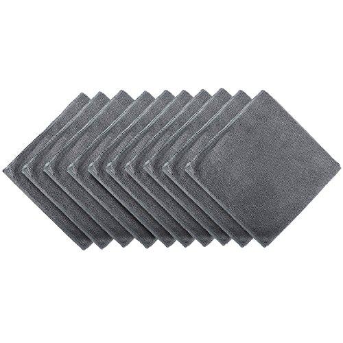 BONORUM Premium – Mikrofasertücher mit 300 GSM (!) – Perfekt für die Reinigung von Autos, Motorräder oder im Haushalt – 10 Stück – elegantes Design – extrem saugstark und fusselfrei – 40 cm x 40cm groß