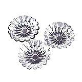 Butterme 50pcs Egg Tart Aluminium Blumen Wiederverwendbare Cupcake und Muffin Backen Cup Kuchen Kuchen Plätzchen Form Gefüttert Mould Zinn Backen Werkzeug