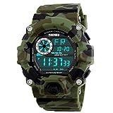 Camo Herren Outdoor Klettern oder Wandern Uhren Funktion 50 m Wasser Proof Double Time Armbanduhr für Herren camouflage