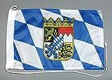 Buddel-Bini Bootsflagge Bayern 20 x 30 cm in Profiqualität Flagge