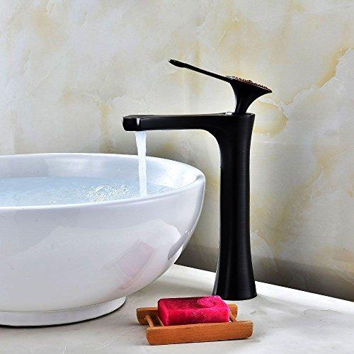 ETERNAL QUALITY Badezimmer Waschbecken Wasserhahn Messing Hahn Waschraum Mischer Mischbatterie Waschtisch Armatur Bad Plus hohe wasseranschluß antik schwarz Waschtisch AR