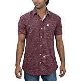 Inego Men's Casual Shirt (Burgundy )