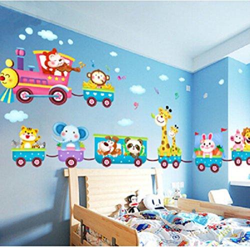r-Zug-Wand-Aufkleber Nursery Dekor-Kunst-Wand Removable (Safari-dekor-ideen)