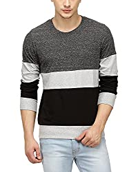 Campus Sutra Men Tri Colour Full Sleeve T-Shirt