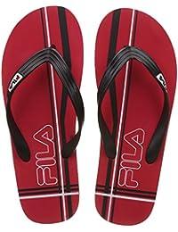 Fila Men's Red, Black And White Hawaii Thong Sandals - 10 UK/India (44 EU)
