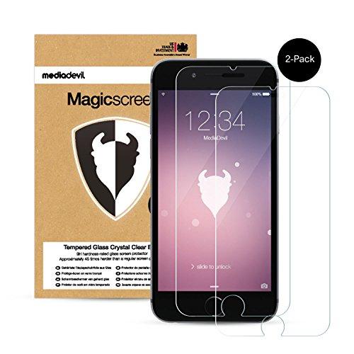 2 Pacchi Apple iPhone 6 / 6S Pellicola Protettiva in Vetro Temperato, MediaDevil Magicscreen Crystal Clear (Invisibile)