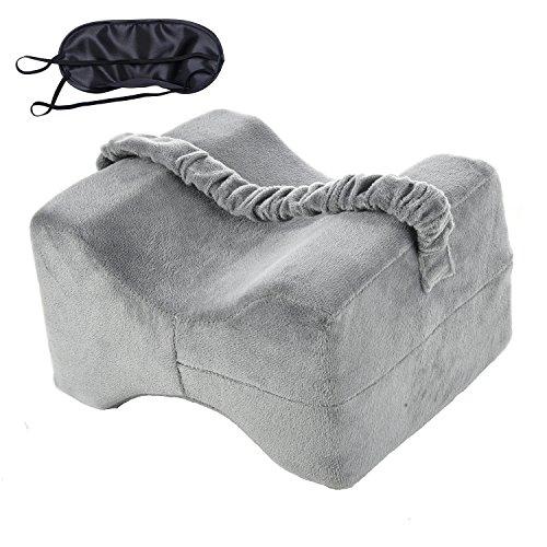 Knew Support Kissen Memory-Foam-Bein-Kissen zum Schlafen, Schmerzlinderung für Seitenschläfer, Hüfte, Rücken-Knie-Schmerz-Schwangerschaft, Knie-Unterstützung für orthopädische Knie