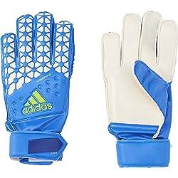 adidas Ace FS Junior - Guantes para niños, color azul/blanco, talla 4.5