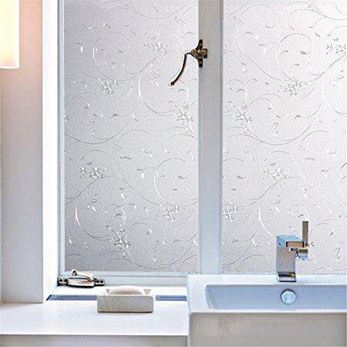 Preisvergleich Produktbild Velimax Fensterfolie Sichtschutzfolie Leimfrei Fenster Aufkleber Sonnenschutz und Isolierung Fensterschutzfolie Selbstklebend 90cmx200cm