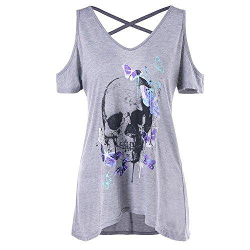 Mode Damen Sommer Lose T-Shirt Schreiben Bedruckte Rundkragen Lässige Baumwolle Tops Kurzarm