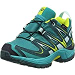 Salomon Kinder XA Pro 3D CSWP, Synthetik/Textil, Trailrunning/Outdoor-Schuhe, Blau, Gr. 28