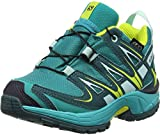 Salomon Kinder XA Pro 3D CSWP Trailrunning/Outdoor-Schuhe, Türkis (Deep Peacock Blue/Ceramic/Lime Punch), Gr. 30