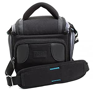 USA Gear Universal Camera Travel Bag and Gadget Case for DSLR , Bridge , Compact Cameras Featuring Internal Dividers , 4 Interior Accessory Compartments and Weather-Resistant Base - Works with Cameras from Nikon , Canon , Fujifilm and many more!