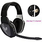Sunrain 7.1 Surround Sound Optische Faser 2,4 G Wireless Professional Stereo Gaming Headset f¨¹r Xbox One Xbox 360 PS4 PS3