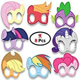 #9: Party Propz™ My Little Pony Eye Mask Pack Of 8 Pieces / My Little Pony Party Supplies / My Little Pony Decoration / My Little Pony Birthday Party Supplies / My Little Pony Birthday Decoration