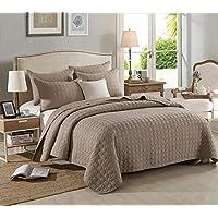 WYFC Cómoda funda de almohada de 2 piezas edredón de 1 pieza. 100% algodón. color de café acolchado. 230 * 250cm . 230*250cm