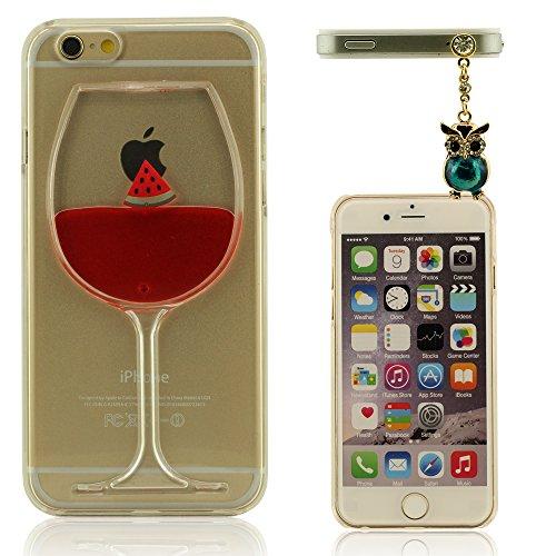 Weinglas Form Handy iPhone 6 (4.7 Zoll) Hülle Handyhülle, Case für iPhone 6S, Polychrome...