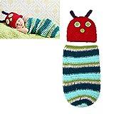 Baby Kinder Regenbogen Raupe tragbare Decke Schlafsack Strampler Neugeborenen Fotografie Requisiten Nachtwäsche Swaddle Wrap Baby